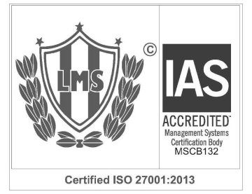 ISO 27001-2013 Certified